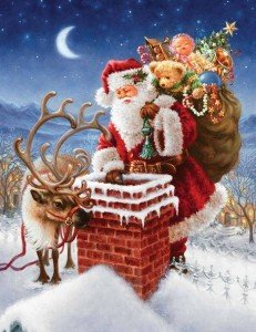 50501-Santa-Going-Down-A-Chimney