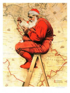 norman-rockwell-santa-at-the-map-december-16-1939